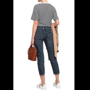 Current Elliot Vintage Cropped Slim Stud Jeans